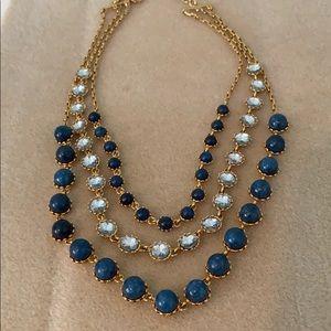 Ann Taylor Jewelry - Ann Taylor  blue three strand necklace